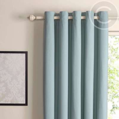 Zen Duck Egg Plain Eyelet Curtains